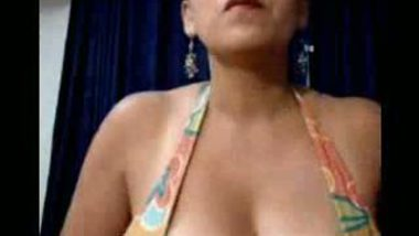 Busty boobies� receptionist masturbating for sensual pleasure