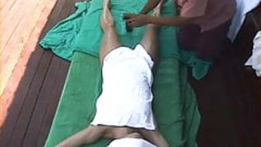 Hidden cam Bali Female Tourist gets a happy ending massage