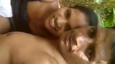 Village couple Outdoor romance and Boob sucking