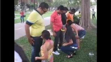 MMS Of Indian Enjoying Erotic Sex Game In Park